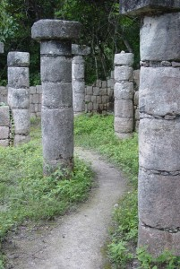 Entrance to The Vortex at the sacred pyramids of Chichen Itsa